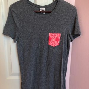 Victoria Secret Gray T-shirt with pink detail
